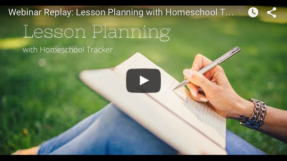 Lesson Planning with Homeschool Tracker